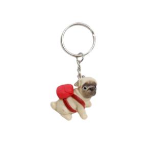 sleutelhanger, leuk, hond, dier, dames, accessoires, cadeau, geschenk